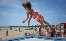 Strand Clubs fûr Kinder von les Sables d'Olonne in der Vendée
