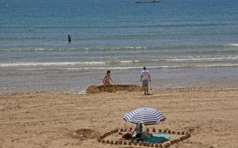 Strand von les Sables d'Olonne